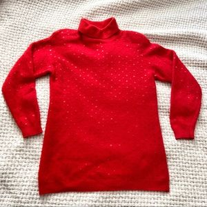 Vintage Red Sequin Sweater